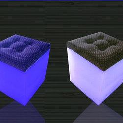 LED cube chair DLG-B004 - illuminated led cube chair/led light cube chair