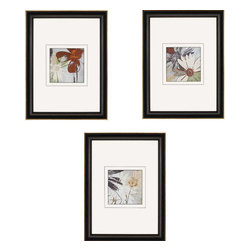 Paragon - Bouquet d'Amour PK/3 - Framed Art - Each product is custom made upon order so there might be small variations from the picture displayed. No two pieces are exactly alike.