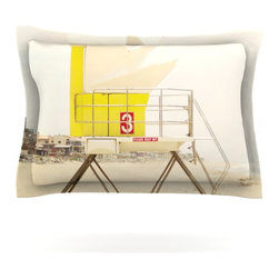 "Kess InHouse - Bree Madden ""Yellow Tower"" Pillow Sham (Cotton, 30"" x 20"") - Pairing your already chic duvet cover with playful pillow shams is the perfect way to tie your bedroom together. There are endless possibilities to feed your artistic palette with these imaginative pillow shams. It will looks so elegant you won't want ruin the masterpiece you have created when you go to bed. Not only are these pillow shams nice to look at they are also made from a high quality cotton blend. They are so soft that they will elevate your sleep up to level that is beyond Cloud 9. We always print our goods with the highest quality printing process in order to maintain the integrity of the art that you are adeptly displaying. This means that you won't have to worry about your art fading or your sham loosing it's freshness."