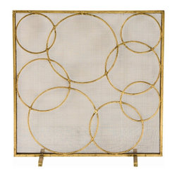 Arteriors - Arteriors Glen Screen - Arteriors 4211 Glen Screen made with Distressed Gold Iron/Mesh.