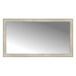 "Posters 2 Prints, LLC - 44"" x 24"" Libretto Antique Silver Custom Framed Mirror - 44"" x 24"" Custom Framed Mirror made by Posters 2 Prints. Standard glass with unrivaled selection of crafted mirror frames.  Protected with category II safety backing to keep glass fragments together should the mirror be accidentally broken.  Safe arrival guaranteed.  Made in the United States of America"