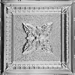 "Decorative Ceiling Tiles - Coffered Delight - Tin Ceiling Tile - 24""x24"" - #2423 - Find copper, tin, aluminum and more styles of real metal ceiling tiles at affordable prices . We carry a huge selection and are always adding new style to our inventory."