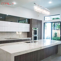 Latest kitchen designed and installed by LuxeItaly - Luxe Italy Houston Modern Kitchen