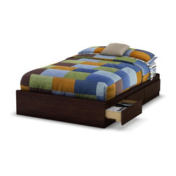 South Shore - Full Mates Bed in Havana - Manufactured from eco-friendly, EPP-compliant laminated particle boardcarrying the Forest Stewardship Council (FSC) certification. Includes 3 drawers. Mattress not included. Assembly Required. 76.24 in. L x 55.94 in. W x 13.8 in. H