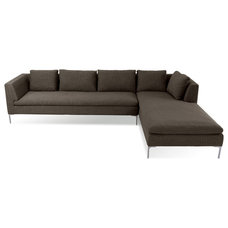 Modern Sectional Sofas Mayfair Grey-Brown Sectional Sofa (L)