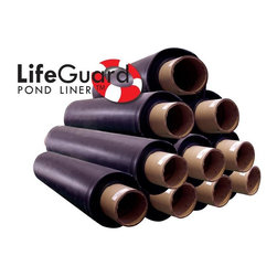 LifeGuard by the Roll 50x100 45Mil - 45 Mil EPDM Certified fish safe pond rubber liner.  Buy it by the Roll. sizes 5-50