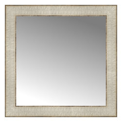 """Posters 2 Prints, LLC - 17"""" x 17"""" Libretto Antique Silver Custom Framed Mirror - 17"""" x 17"""" Custom Framed Mirror made by Posters 2 Prints. Standard glass with unrivaled selection of crafted mirror frames.  Protected with category II safety backing to keep glass fragments together should the mirror be accidentally broken.  Safe arrival guaranteed.  Made in the United States of America"""