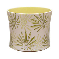 Papyrus Cachepots - This pot has a different feel to it with the papyrus leaf print. I like that the inside of the pot is glazed to match the lighter leaves on the outside of the pot. They're also advertised as drip proof - good stuff.
