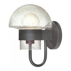 "Sonneman - Sonneman 4912S Contemporary / Modern Single Light Mushroom Shaped Indoor / Outdo - *Requires 1 75w Medium Bulb (Not Included) Extends: 8.5""Backplate: 5"" DiameterShaded Dimensions: Height 7.5"", Diameter 7.5""UL Listed for Wet Location"