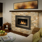 H4 Series Fireplace - H4 with Landscape Surround (660LSV) and Brushed Nickel Inner Bezel (661BSP)