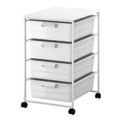 IKEA of Sweden - ANTONIUS Frame, drawer and desk top - Frame, drawer and desk top, white