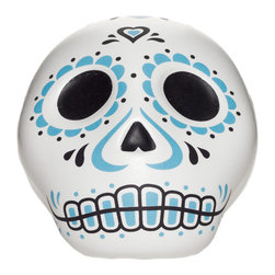 Fred & Friends - Sweet Spirits Sugar Shaker - Sweeten your day with Fred's Sweet Spirits sugar shaker. Inspired by the brilliant colors and symbols of Mexico's Day of the Dead, this porcelain sugar skull will add some life to your dining festivities.