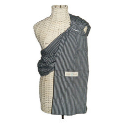 Maya Wrap - Lightly Padded Sling in Gray Stripes - Lightly Padded Sling in Gray Stripes