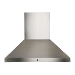 "Cavaliere - Cavaliere AP238-PSF Wall Mounted Range Hood - 30"" - Cavaliere Stainless Steel 230W Wall Mounted Range Hoods with 6 Speeds, Timer Function, LCD Keypad, Stainless Steel Baffle Filters, and Halogen Lights."
