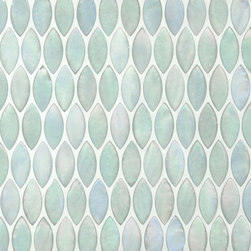 Studio V151 - Elipse Pattern - This leaf shaped, light blue-ish tile will add a subtle accent and soothing feel to your space