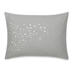 Barbara Barry - Barbara Barry Florette Oblong Toss Pillow - Embroidered with floating pearl appliques, the ultra-soft Barbara Barry Florette Oblong Toss Pillow instantly brings luxury to your bedroom. The toss pillow is the perfect finishing touch to the Barbara Barry Florette Comforter Set.