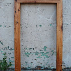 Rustic Mirror Frame - Custom frame for client-provided mirror, made from reclaimed beams