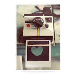 """Kess InHouse - Cristina Mitchell """"Polaroid Love"""" Teal Camera Metal Luxe Panel (16"""" x 20"""") - Our luxe KESS InHouse art panels are the perfect addition to your super fab living room, dining room, bedroom or bathroom. Heck, we have customers that have them in their sunrooms. These items are the art equivalent to flat screens. They offer a bright splash of color in a sleek and elegant way. They are available in square and rectangle sizes. Comes with a shadow mount for an even sleeker finish. By infusing the dyes of the artwork directly onto specially coated metal panels, the artwork is extremely durable and will showcase the exceptional detail. Use them together to make large art installations or showcase them individually. Our KESS InHouse Art Panels will jump off your walls. We can't wait to see what our interior design savvy clients will come up with next."""