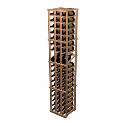 Designer Series Wine Rack - 3 Column Individual with Display - The 3 Column Individual Bottle with Display Row wine rack combines all the features of the standard 3 Column Individual Bottle wine rack with the added benefit of display rows. The 15 degree angle of the wine display row keeps the cork moist while allowing you to easily view the label. Each display rack is 3 columns wide x 18 rows high with 3 bottles of display. Product requires assembly. Please note: molding packages are available separately.