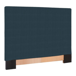Howard Elliott - Sterling Indigo Twin Slipcovers - Refresh the look of your slipcovered headboard simply by updating the cover! Change with the seasons, or on a whim. This piece features a soft burlap indigo blue cover