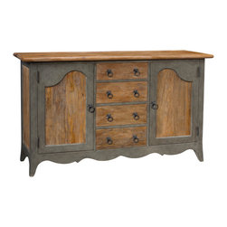 French Heritage - French Heritage Foix Sideboard - With the look of an antique that has been in the family for generations, this elegantly crafted buffet and sideboard is ideal for entertaining. You'll be pleased with the ample space and protection for your china, linens and other dining essentials.