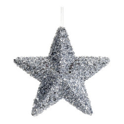Silk Plants Direct - Silk Plants Direct Glittered Star Ornament (Pack of 12) - Silver - Pack of 12. Silk Plants Direct specializes in manufacturing, design and supply of the most life-like, premium quality artificial plants, trees, flowers, arrangements, topiaries and containers for home, office and commercial use. Our Glittered Star Ornament includes the following:
