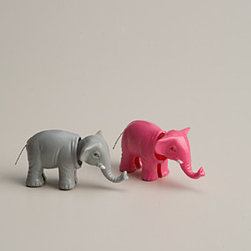 Bobblehead Elephant - These bobblehead elephants will add a little quirkiness to the nursery!