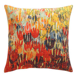 Audra Pillow - The touch of orange in this pillow is beautiful. It would make a great accessory for any bed, chair or sofa.