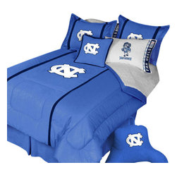 Store51 LLC - North Carolina Tar Heels Twin Comforter Pillow Sham MVP Bed - Features: