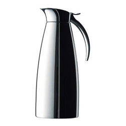 Frieling - Eleganza Stainless Steel Maxi 1-Quart Insulated Carafe - A timeless and elegant design combines with extremely durable stainless steel to create this Eleganza carafe. This beverage server features a sturdy hinged lid perfect for easy one-hand use, and double walled stainless steel vacuum insulation which ensures superior heat retention and makes it virtually unbreakable. Features: - Virtually unbreakable - Double walled, vacuum insulated - All that is needed for serving is a simple downward push on the lever - Lid is attached so no worries about lost lids Specification: - Material: stainless steel - Capacity: 1-quart - Cleaning and care: dishwasher safe