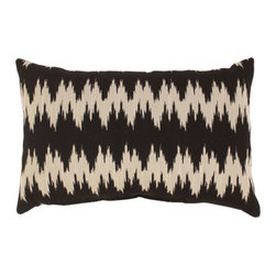 Pillow Perfect - Gopala Rectangular Throw Pillow in Black and Gray - - Woven 100% Polyester  - 100% Virgin Recycled Polyester Fill  - Sewn Seam Closure  - Spot Clean Only  - Made In USA Pillow Perfect - 474632