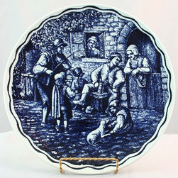 Boch - Consigned Vintage Blue Delft Plate Charger Jolly - Product Details