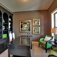 Contemporary Home Office by Hanson Builders, Inc.