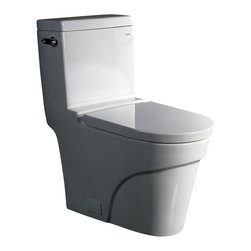 Ariel Platinum - Ariel Platinum TB326M Oceanus Contemporary One Piece White Toilet 28x15x31 - Ariel cutting-edge designed one-piece toilets with powerful flushing system. It's a beautiful, modern toilet for your contemporary bathroom remodel.