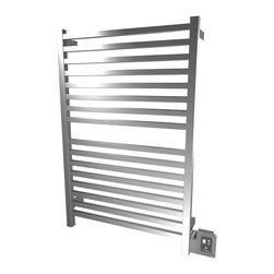 Amba - Edged 28x42 Electric Heated Towel Warmer, Polished - Dual-purpose radiator functions as towel warmer and space heater