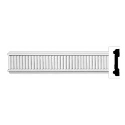 "Renovators Supply - Crown Moldings UrethaneMission Hill Crown Molding - Ornate | 11598 - Crown Moldings: Made of virtually indestructible high-density urethane our crown molding is cast from steel molds guaranteeing the highest quality on the market. High-precision steel molds provide a higher quality pattern consistency, design clarity and overall strength and durability. Lightweight they are easily installed with no special skills. Unlike plaster or wood urethane is resistant to cracking, warping or peeling.  Factory-primed our crown molding is ready for finishing.  96"" x 3""."