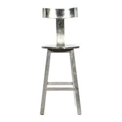 Custom Stool in Aluminum and Steel - $295 Est. Retail - $118 on Chairish.com -