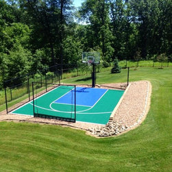 Basketball court stencil outdoor products find patio for Outdoor basketball court template