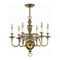 Hinkley Lighting - Hinkley Lighting 4416BB Cambridge Burnished Brass 6 Light Chandelier - Hinkley Lighting 4416BB Cambridge Burnished Brass 6 Light Chandelier