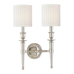 Hudson Valley Lighting - Hudson Valley Lighting 4902-PN Abington 2 Light Wall Sconces in Polished Nickel - This 2 light Wall Sconce from the Abington collection by Hudson Valley Lighting will enhance your home with a perfect mix of form and function. The features include a Polished Nickel finish applied by experts. This item qualifies for free shipping!