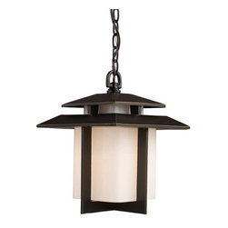 Elk Lighting - Elk Lighting 42172/1 Kanso Mission Outdoor Hanging Light in Hazelnut Bronze - Elk Lighting 42172/1 Kanso Mission Outdoor Hanging Light in Hazelnut Bronze