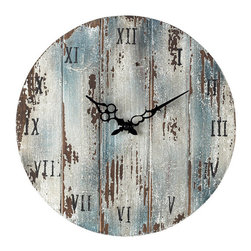 Sterling Industries - Sterling Industries 128-1008 Wooden Roman Numeral Outdoor Wall Clock - Clock (1)