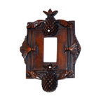 Hickory Manor House - Pineapple Single Dimmer Switch Plate in Napol - Vintage original. Custom made by artisans unfortunately no returns allowed. Enhance your decor with this graceful switch plate. Made in the USA. Made of pecan shell resin. Weight: 1 lb.