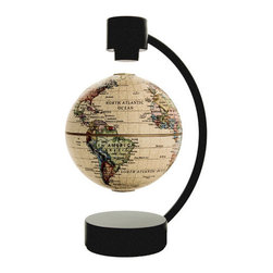 Levitating Globe - Collect globes? What a fun conversation starter and way to get kids excited about geography and science! This kid-friendly globe disguises itself really well as a unique addition to a grownup home.