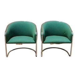 Thonet Lounge Club Chairs - A Pair - Dimensions 27.0ʺW × 25.0ʺD × 28.0ʺH
