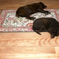 "Heartwood ""Red Birch"" Floors - ""Red Birch"" heartwood only wide plank Birch flooring, sawmill direct from Hull Forest Products. Dogs not included."