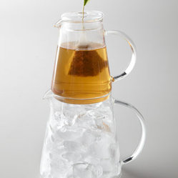 "Tea Forte - Tea Forte ""Tea Over Ice"" Pitcher - Only Tea Forte could transform a cool glass of iced tea into an entertaining event. Authentic iced tea is brewed and flash-chilled moments before you drink it. These sculpturally designed pitchers stack for a captivating tableside presentation. Include..."