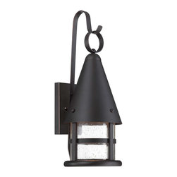Savoy House - Savoy House 5-9501-DS-25 Woodsmith Medium DS Lantern - Accent your home's exterior with Woodsmith, a charming outdoor light from Savoy House. Dark Sky compliant, this lantern features Seedy glass paired with a Slate finish.