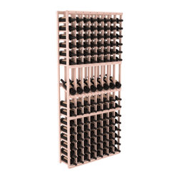 Wine Racks America - 8 Column Display Row Wine Cellar Kit in Redwood, White Wash + Satin Finish - Make 8 of your best vintages a focal point in your wine cellar. This display rack can store up to 11 wine cases. Features our industry exclusive solid display trays with high-reveal. Our wine cellar kits are designed to emphasize durability and elegance. You'll be satisfied. We guarantee it.