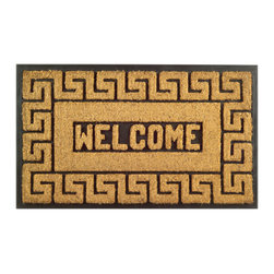 Imports D̩cor - Welcome Greek Key Door Mat (ID712RBCM) - Welcome Greek Key